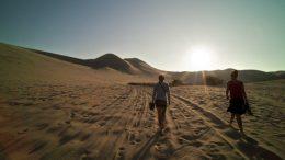 trekking dans le desert