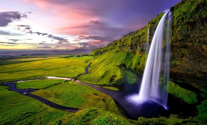 Chute d'eau en Islande