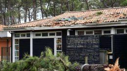 maison des dommages causés par le vent