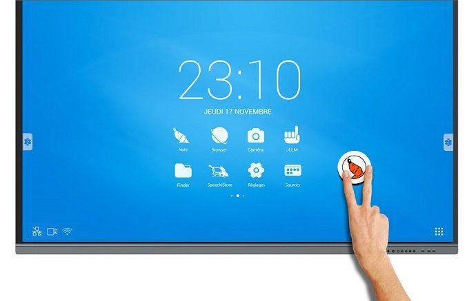Utilisez l'écran tactile 4K pour les présentations et bien plus encore