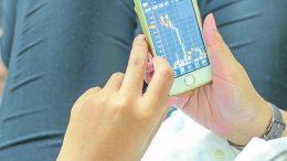 iPhone graphique bourse